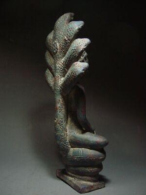 A  RARE BRONZE DVARAVATI NAGA PROTECTED BUDDHA. MON DVARAVATI ART 10th C. 5
