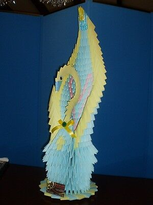 3D origami eagle (hawk) assembly diagram (tutorial, instructions ... | 400x300