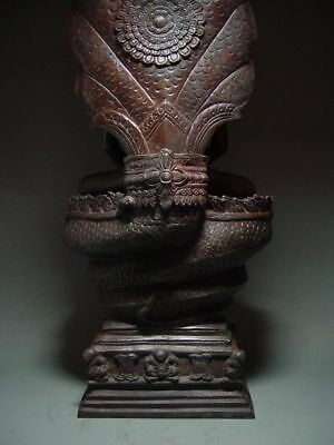 BUDDHA SHELTERED  BY NAGA'S HOOD, LOPBURI ART STYLE, 19/20th C. 12