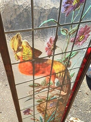 Very Rare French Pair of Painted and Fired Stained Glass Windows Double Sided 2