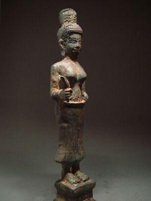 ANTIQUE BRONZE FEMALE DEITY, PRAKHON CHAI, BURIRAM. KHMER INFLUENCE. 18/19th C. 9
