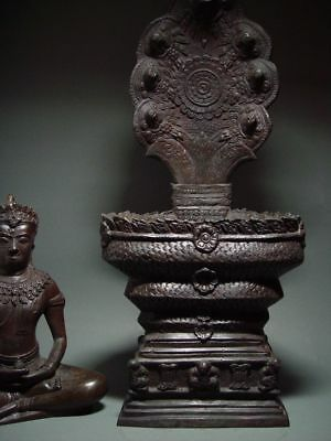 BUDDHA SHELTERED  BY NAGA'S HOOD, LOPBURI ART STYLE, 19/20th C. 4