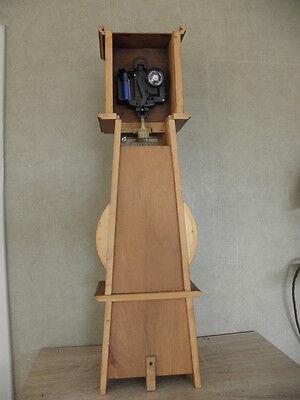 Clock Chime Longcase  Musical horloge retro vintage pendule polychromatic wood 11