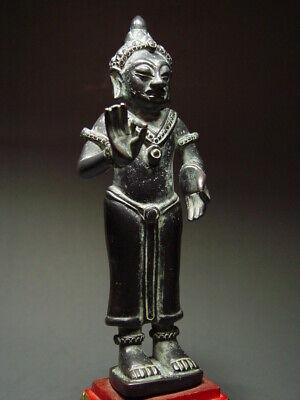STANDING LAO BUDDHA IN BRONZE, NONG KHAI PROVINCE. KHMER MON INFLUENCE 17/18th C 9
