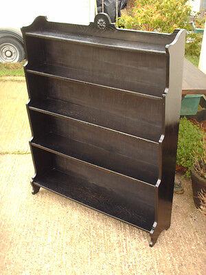 Vintage Ebonized Oak Bookcase 7