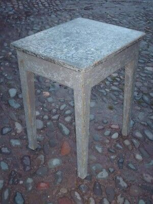 Antique Rustic Pine Painted Side Table 4
