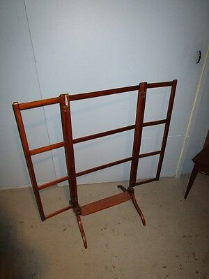 19c Antique English Georgian Mahogany Adjustable Quilt Blanket Rack Stand c1850 9