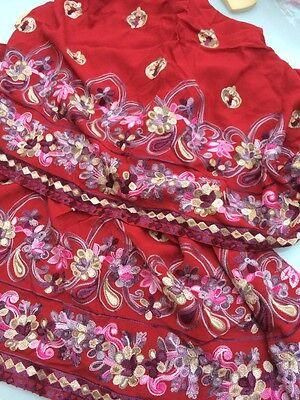 Pakistani Hand Embroidered Long Kameez/Kurta/Tunic with Trousers Sari Saree 12 6