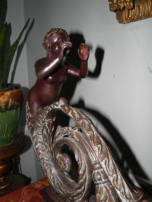 Ornate Bronze Figural Mythological Fireplace Fender Chenet 10