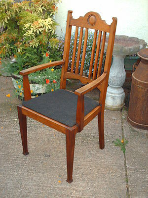 Antique Mahogany Open Armchair 2