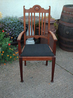 Antique Mahogany Open Armchair 3
