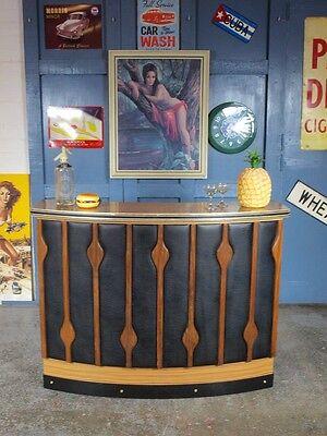 Vintage Mid Century 1960s 70s Teak Cocktail Bar Home Drinks Cabinet Kitsch Xmas 11