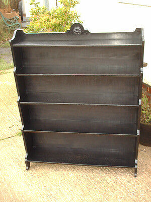 Vintage Ebonized Oak Bookcase 4