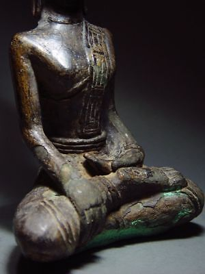 ANTIQUE BRONZE MEDITATING  SAKYAMUNI ' LAN CHANG' BUDDHA, LAOTIAN ART 9/10th C. 10
