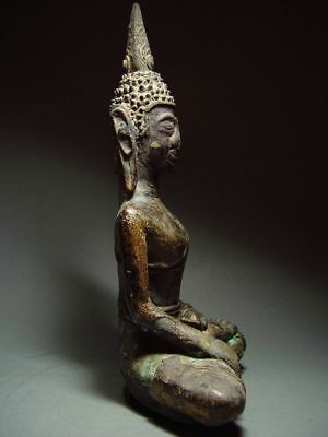 ANTIQUE BRONZE MEDITATING  SAKYAMUNI ' LAN CHANG' BUDDHA, LAOTIAN ART 9/10th C. 6