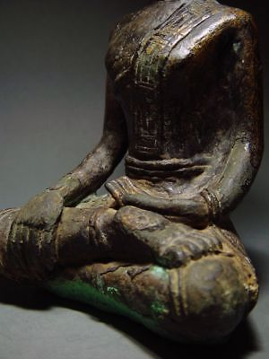 ANTIQUE BRONZE MEDITATING  SAKYAMUNI ' LAN CHANG' BUDDHA, LAOTIAN ART 9/10th C. 11