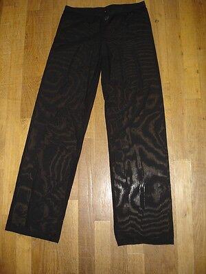 Pantalon sheer taille L noir totale transparence sexy neofan gay inter SEUL P