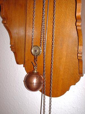 Oak Hooded Wall Clock 5