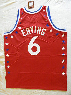 info for f502a adfd9 MITCHELL NESS M&N All Star Julius Erving Dr J Authentic Jersey NWT 60 4XL  Sixers
