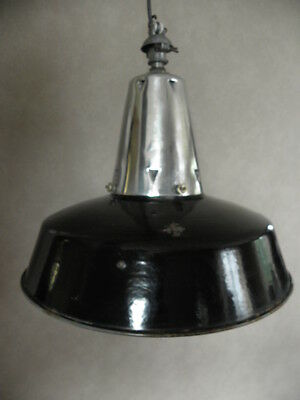 CEILING light PENDANT antique vintage enamel shade lamp industrial machine age 5