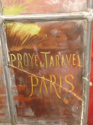Very Rare French Pair of Painted and Fired Stained Glass Windows Double Sided 11