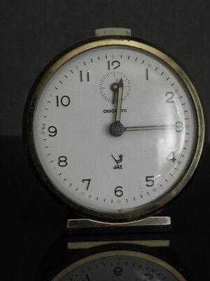 old RETRO clock alarm jaz discreto desk Art Deco design vintage Mechanics uhr 5