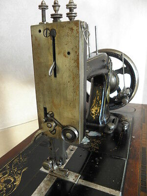 ANTIQUE SEWING MACHINE Winselmann old Hand Crank TOOLS vintage century iron 7