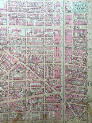 Original 1922 G.w. Bromley, Philadelphia, Pa, Girard College, Plat Atlas Map 3