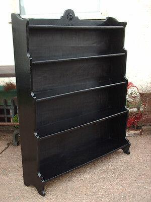 Vintage Ebonized Oak Bookcase 2