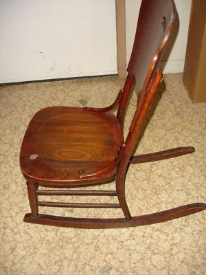 Beautiful Antique Wooden Rocking Chair 5