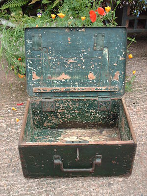 Antique Rustic Strong  Box / Military Chest 5