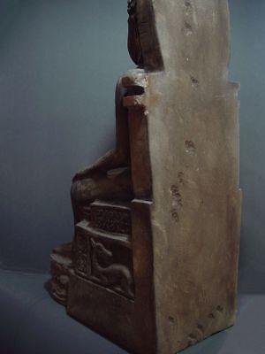 ENTHRONED BUDDHA 'EUROPEAN STYLE' SANDSTONE STONE. MON DVARAVATI PERIOD 11/12thC 12