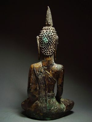 ANTIQUE BRONZE MEDITATING  SAKYAMUNI ' LAN CHANG' BUDDHA, LAOTIAN ART 9/10th C. 5