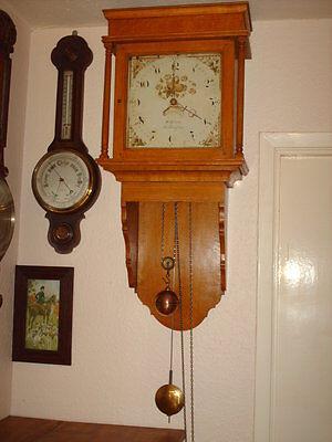 Oak Hooded Wall Clock 3