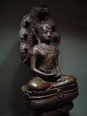 BUDDHA SHELTERED  BY NAGA'S HOOD, LOPBURI ART STYLE, 19/20th C. 10