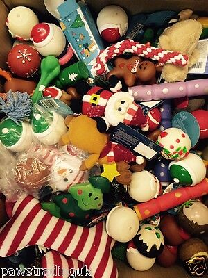 10 X Bargain Christmas Xmas Bundle Toys  Treats Pet Puppy Dog Doggy Chew Toy 7