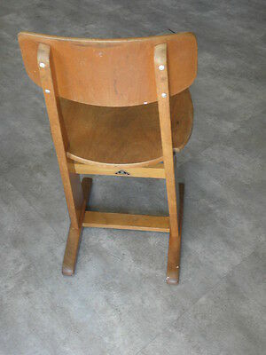 Vintage Chair wood Oak casala Farmhouse Stool Children Bench Seat Kid armchai