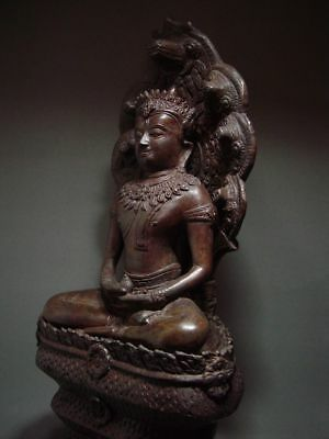 BUDDHA SHELTERED  BY NAGA'S HOOD, LOPBURI ART STYLE, 19/20th C. 9
