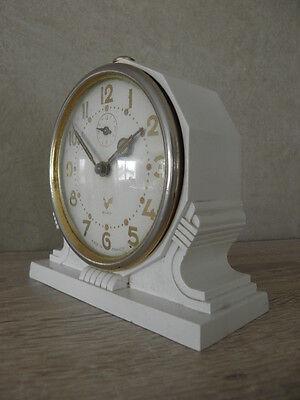 vintage clock alarm blangy retro desk  Art Deco design  Mechanics uhr 4