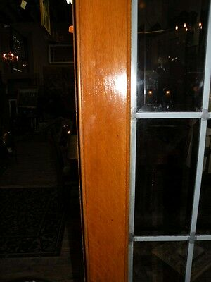 Pair Of Beveled Leaded Glass French Doors In Oak 9
