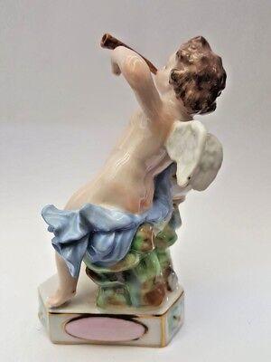 Dresden - Meissen German Circa 1900 Porcelain Cherub Heart Figurin Statue 2