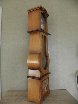 Clock Chime Longcase  Musical horloge retro vintage pendule polychromatic wood 6