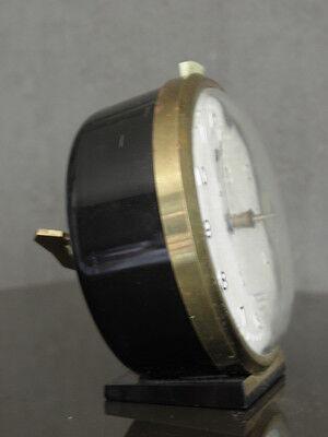 old RETRO clock alarm jaz discreto desk Art Deco design vintage Mechanics uhr 4