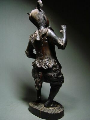 ANTIQUE INDONESIA WOOD-CARVED BALINESE TEMPLE DANCE FIGURE. CIRCA: LATE 19th C. 6