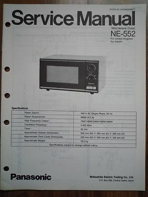 vintage national panasonic ne-552 microwave oven service manual wiring  diagram 2