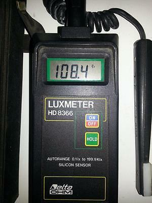 Delta Ohm Luxmeter HD8366 (Used from around 1994, Italy) 2