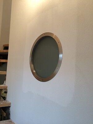 """Türbullauge 40cm Edelstahl Bullauge Rundfenster edles Design mit """"Milchglas"""" 2"""