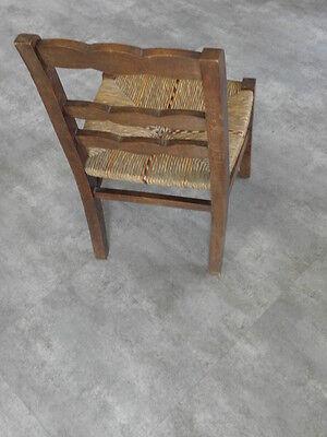 Vintage Chair wood Oak antique Farmhouse Stool Children Bench Seat Kid armchai 6