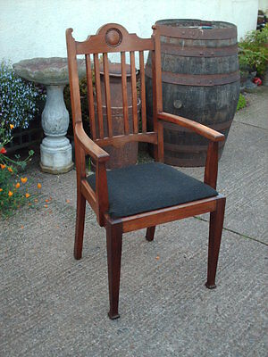 Antique Mahogany Open Armchair 6