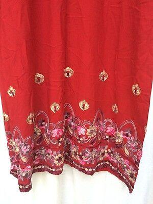 Pakistani Hand Embroidered Long Kameez/Kurta/Tunic with Trousers Sari Saree 12 2